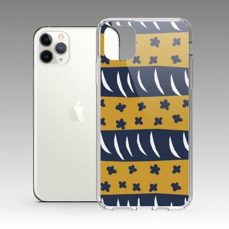 [本島舍] 小花周旋(棕藍) iPhone 耐衝擊防摔保護殼