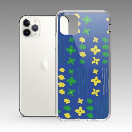 [本島舍] 雲與葉(寶藍) iPhone 耐衝擊保護殼