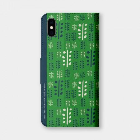 [本島舍] 葉脈(夏綠)手機翻蓋保護皮套