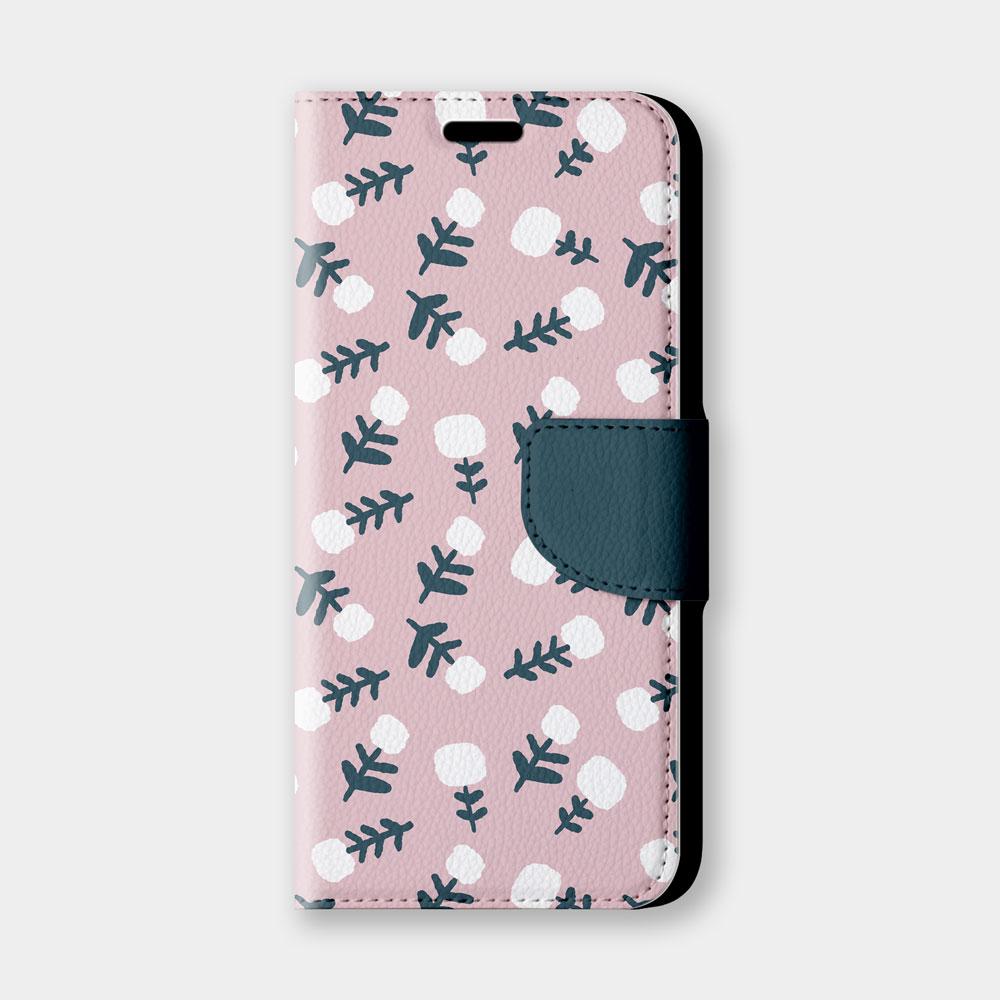 檸檬花(粉)手機翻蓋保護皮套 原創個性印花,超過200種機型全面防護!