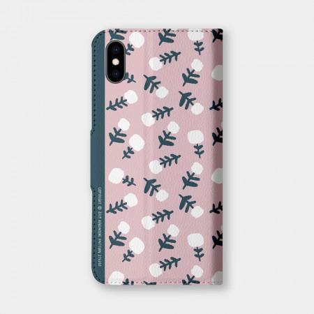 [本島舍] 檸檬花(粉)手機翻蓋保護皮套