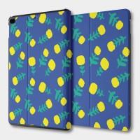 檸檬花(藍) iPad mini 多角度翻蓋皮套