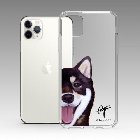 一伴系列-黑柴 iPhone 耐衝擊保護殼