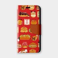紅色麵包手機翻蓋保護皮套