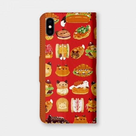 [狐日和] 紅色麵包手機翻蓋保護皮套