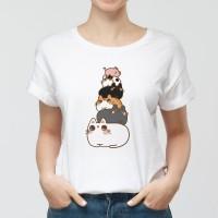 貓貓疊疊樂 黑白灰三色棉T/涼感衣 大人小孩共13種尺寸