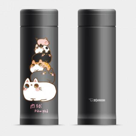 [肉球 paw pad] 貓貓疊疊樂 象印不鏽鋼保溫杯