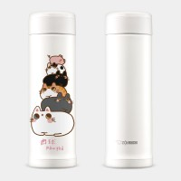 貓貓疊疊樂 象印不鏽鋼保溫杯 0.5L SLiT超輕巧又環保