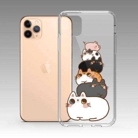 [肉球 paw pad] 貓貓疊疊樂 iPhone 耐衝擊保護殼