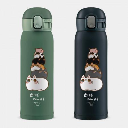 [肉球 paw pad] 貓貓疊疊樂 象印 One Touch 彈蓋運動水瓶
