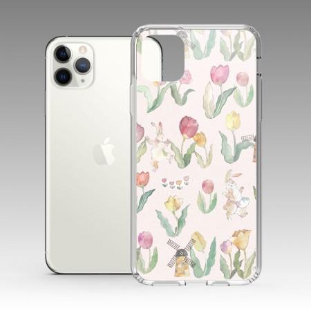 [露台上的波麗] Flower Dance 花之舞鬱金香粉色 iPhone 耐衝擊防摔保護殼