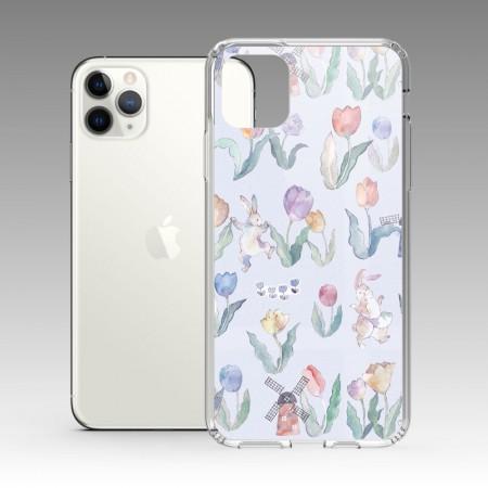[露台上的波麗] Flower Dance 花之舞鬱金香紫色 iPhone 耐衝擊防摔保護殼
