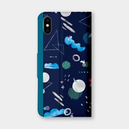 [露台上的波麗] 宇宙系列 詠夜手機翻蓋保護皮套