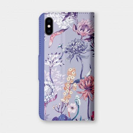 城市印花—皇后普蒂亞(淺紫) 手機翻蓋保護皮套