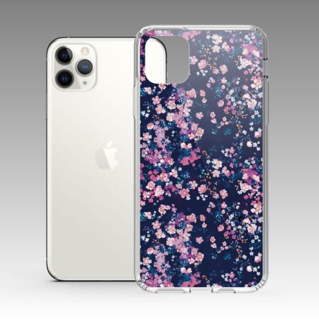 [露台上的波麗] 城市印花—夜櫻 iPhone 耐衝擊保護殼