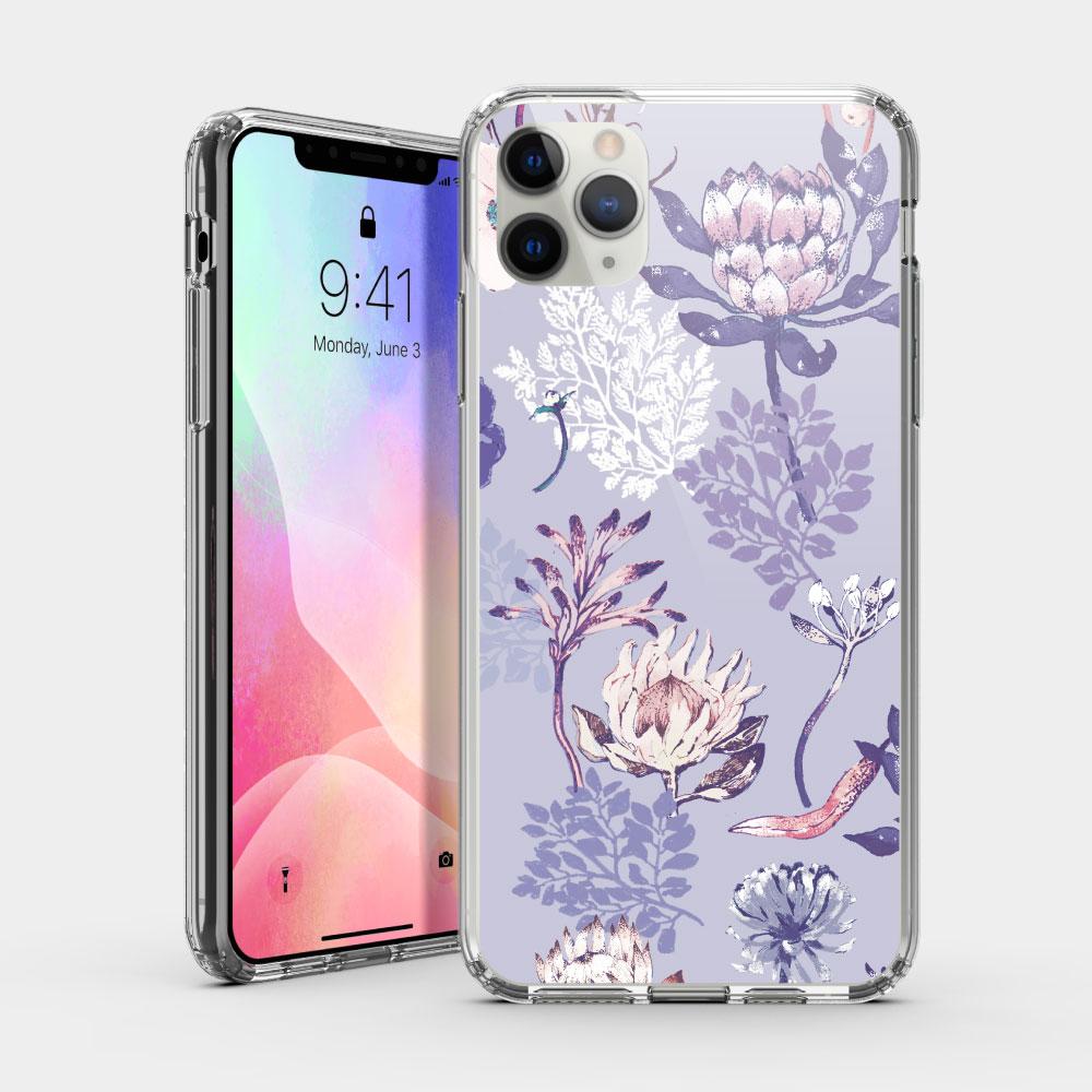 城市印花—皇后普蒂亞(淺紫) iPhone 耐衝擊保護殼