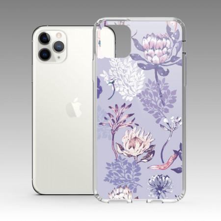[露台上的波麗] 城市印花—皇后普蒂亞(淺紫) iPhone 耐衝擊保護殼