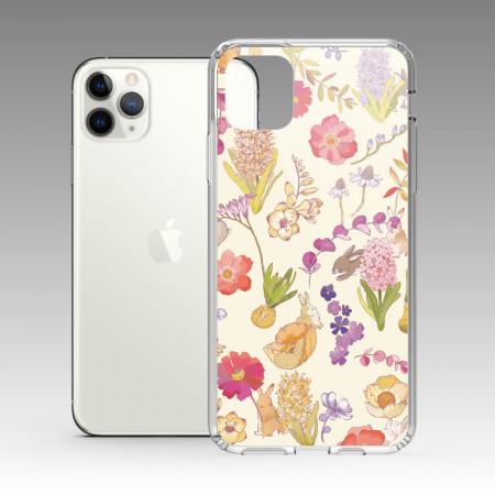 [露台上的波麗] 城市印花—月牙色 iPhone 耐衝擊保護殼