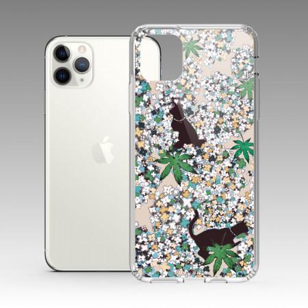 [露台上的波麗] 城市印花—清華園(常磐綠) iPhone 耐衝擊保護殼