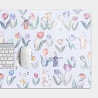 [露台上的波麗] FLOWER DANCE 花之舞鬱金香紫色 電競滑鼠墊