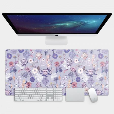 [露台上的波麗] 城市印花—皇后普蒂亞(淺紫) 電競滑鼠墊