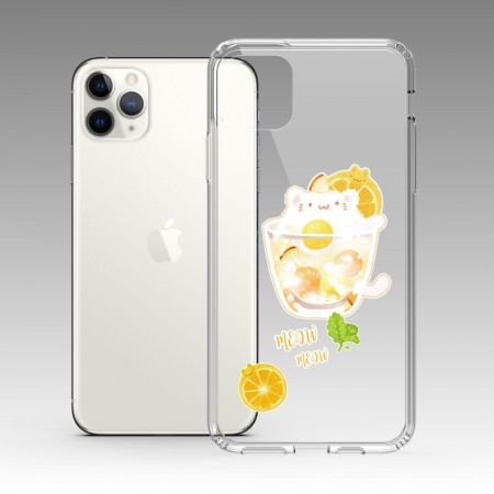 [Tilabunny 緹拉兔] 夏日冰球飲料 - 貓咪檸檬冰茶 iPhone 耐衝擊保護殼