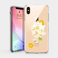 夏日冰球飲料 - 貓咪檸檬冰茶 iPhone 耐衝擊保護殼