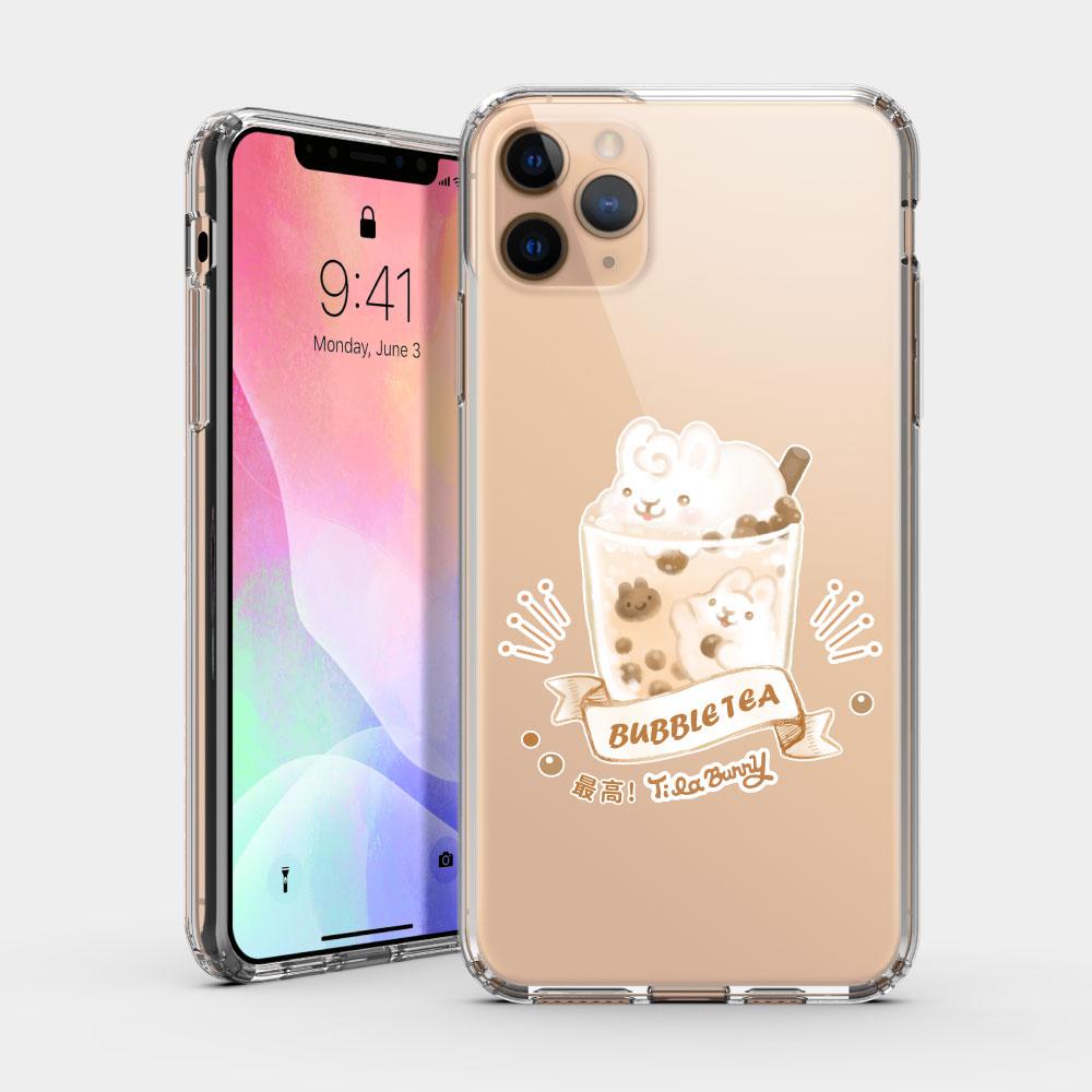 珍珠奶茶最高 iPhone 耐衝擊保護殼 隨機贈送蝴蝶結緞帶