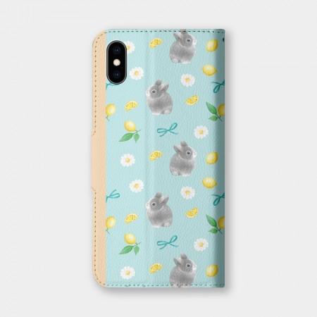 [Tilabunny 緹拉兔] 檸檬花與兔(綠)手機翻蓋保護皮套