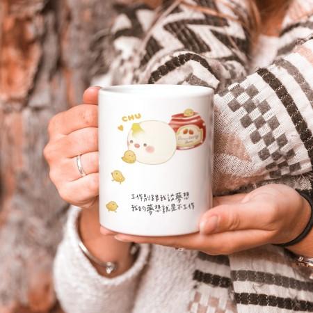 [Tilabunny 緹拉兔] 麵包 - 可愛鳥(可客製化座右銘) 買就送杯墊