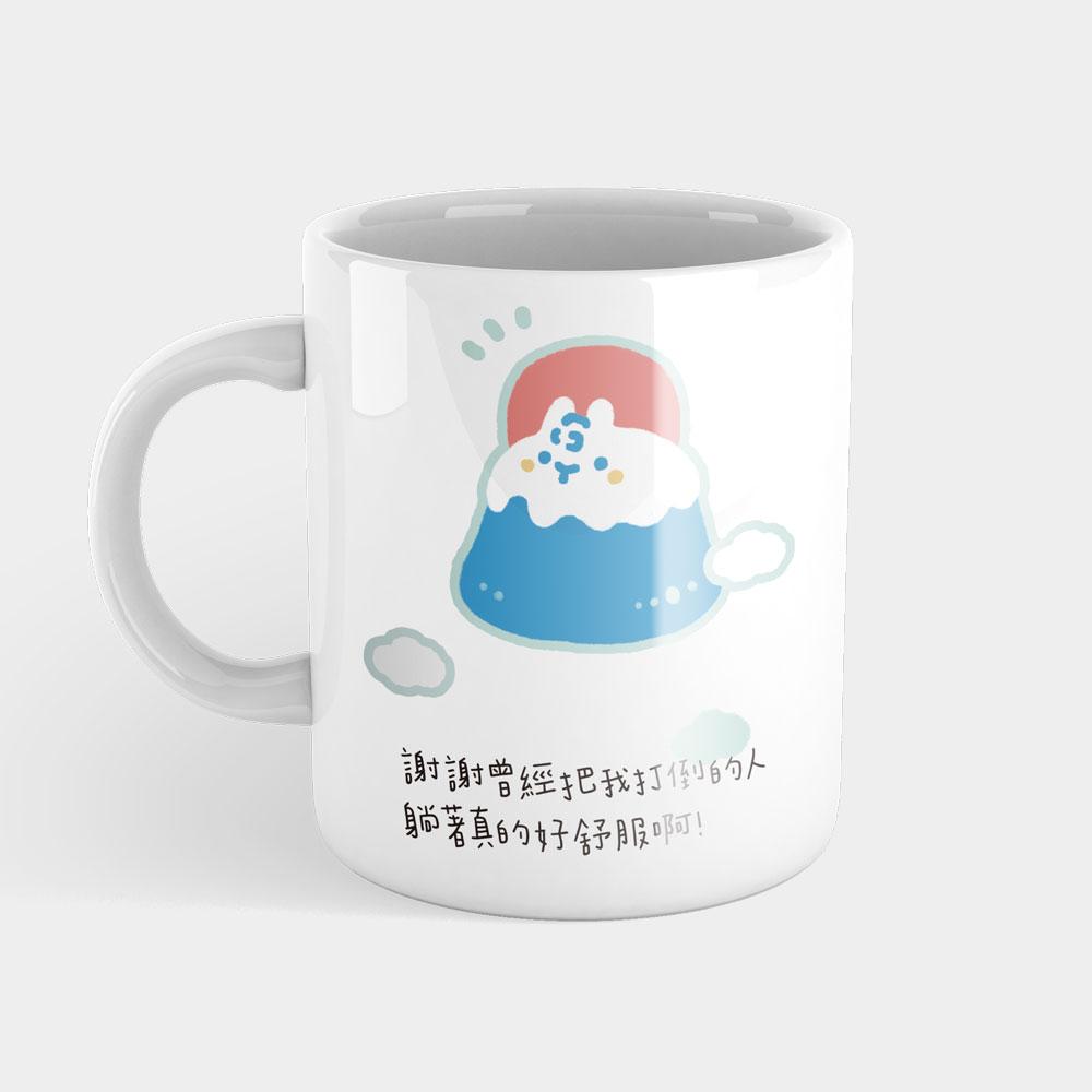 蘇打富士山 可客製化座右銘馬克杯