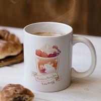 莓莓奶泡果飲 馬克杯+杯墊組