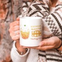 紅茶半糖去冰 馬克杯+杯墊組