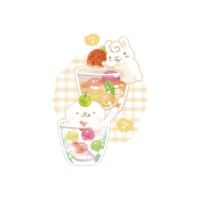 夏日冰球飲料 - 來杯兔兔跟狗狗  黑白灰三色 可選綿T或涼感衣