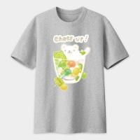 夏日冰球飲料 - 白熊奇異果特調  黑白灰TEE 大人小孩共 13 種尺寸