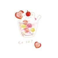 夏日冰球飲料 - 草莓貓咪特調  黑白灰三色 可選綿T或涼感衣