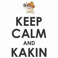 [台南升堂] KEEP CALM & KAKIN 靜課一單(白)