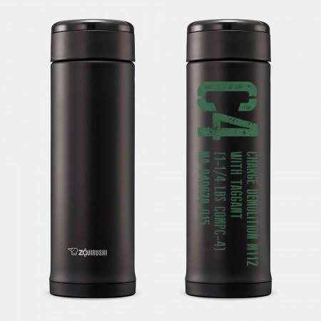 [OTAKU] C4炸彈-綠字  象印不鏽鋼保溫杯