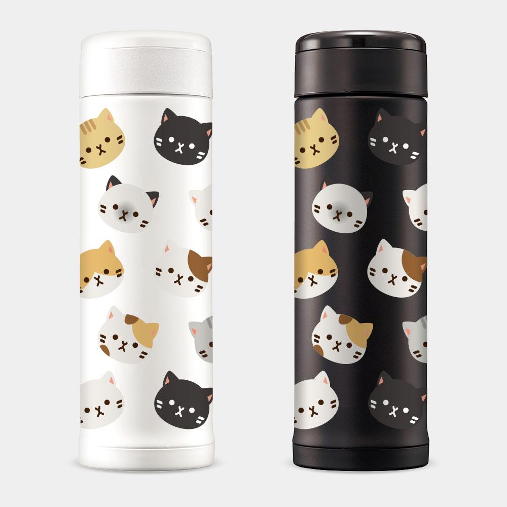 貓 象印不鏽鋼保溫杯