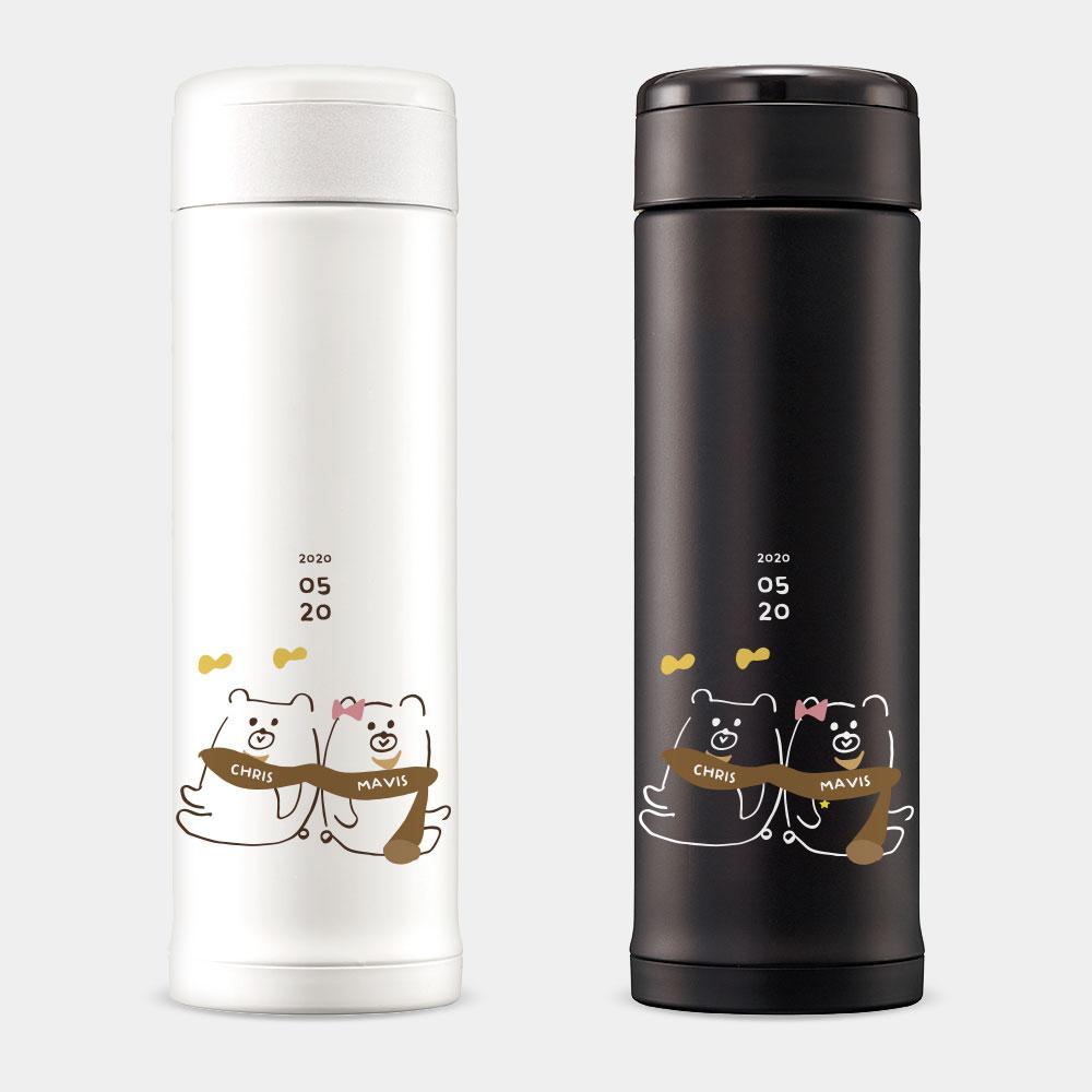 [PUPU] 圍巾熊客製化姓名 紀念日 象印不鏽鋼保溫杯