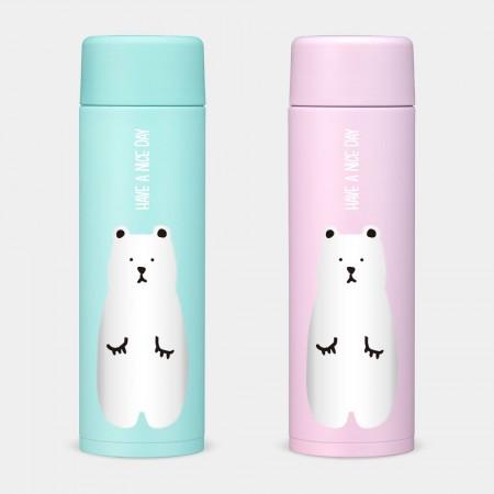 [PUPU] Have A Nice Day白熊 象印不鏽鋼保溫杯