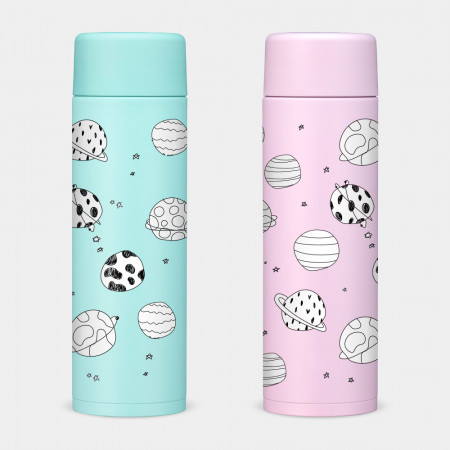 [PUPU] 粉紫花 象印不鏽鋼保冷保溫杯