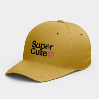 SuperCute 極度可愛  韓風鴨舌帽 黑灰白黃紅粉 隨機贈送胸章