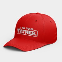 I AM YOUR FATHER   休閒棒球帽 黑灰白黃紅粉 隨機贈送胸章
