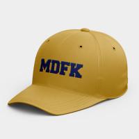 MDFK  韓風鴨舌帽 黑灰白黃紅粉 隨機贈送胸章
