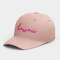 Kawaiii  客製化簽名棒球帽 黑灰白黃紅粉 隨機贈送胸章