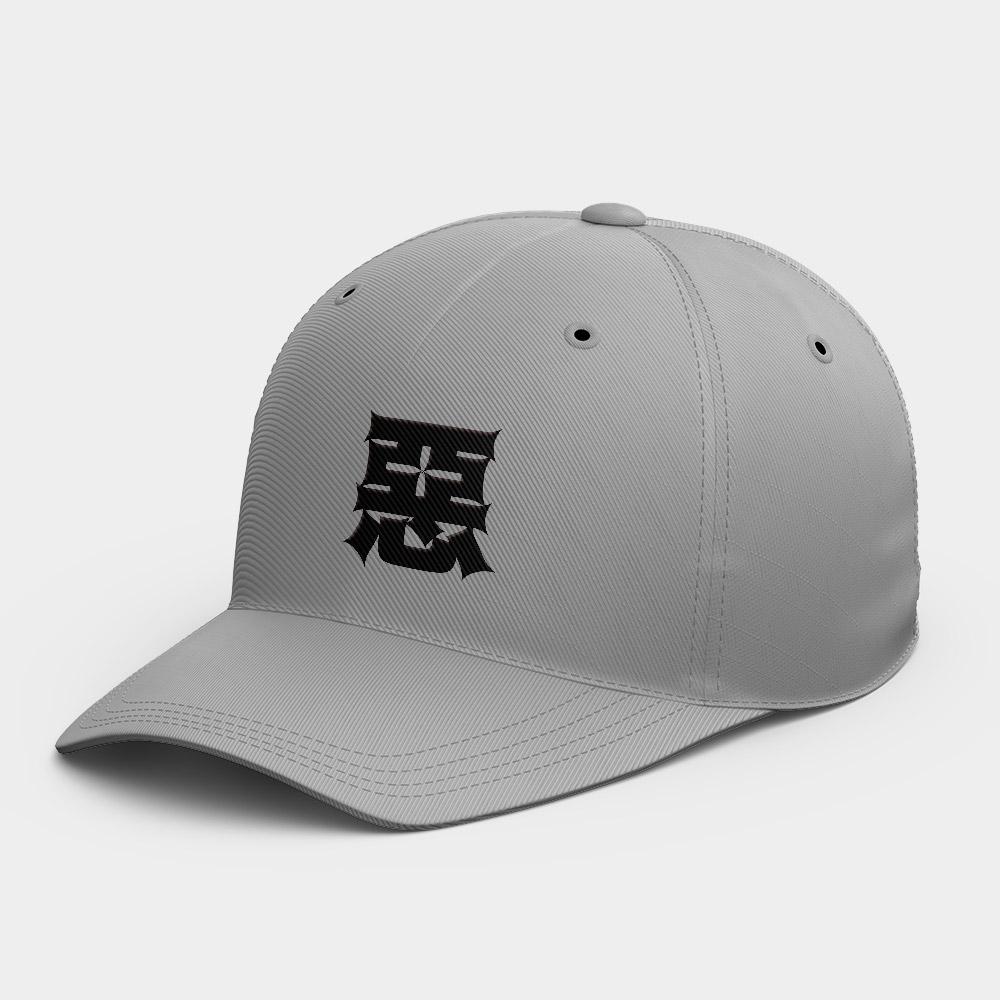 惡 休閒棒球帽 黑灰白黃紅粉 隨機贈送胸章