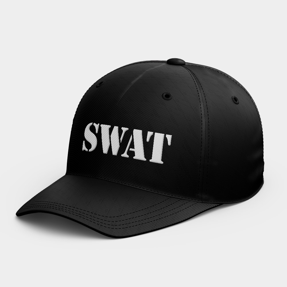 SWAT 反恐特警組客製化棒球帽 黑灰白黃紅粉 隨機贈送胸章