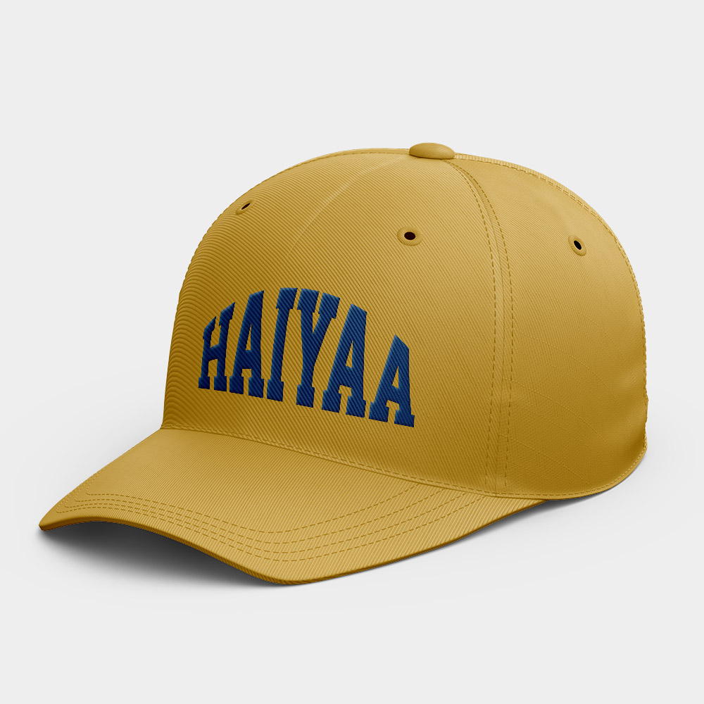 害呀(HaiYaa) 韓風鴨舌帽 黑灰白黃紅粉 隨機贈送胸章
