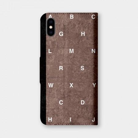 英文字母(咖)手機翻蓋保護皮套